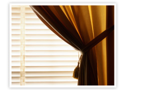 blinds and curtain tie-back